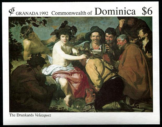 DOMINICA Sc.# 1439 Spanish Art Stamp S/S II
