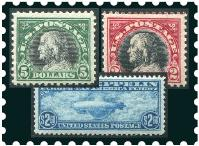 UNITED STATES - Scott 1 1847 Franklin four margin VF used copy with part of lower stamp in bottom margin