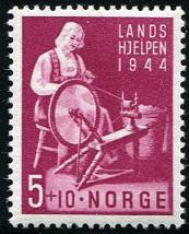 Norway stamp, Norway stamps, Herrick Stamp, semi-postal stamp