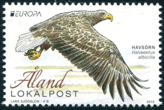 ALAND - Scott NEW ISSUE EUROPA 2019 Birds (P/3 @ Face) (1)  Another stamp from Herrick Stamp Company