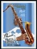 ANDORRA-SPANISH - Scott NEW ISSUE Jazz Souvenir Sheet (Saxophone) (1)