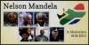 ANTIGUA - 2013 Imperforated Valid for Postage. Between 50 and 100 of each exist. Sc. #3238 Nelson Mandela Imperf Sheetlet II of 6 (1)
