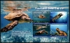 ANTIGUA - Scott NEW ISSUE Hawksbill Sea Turtle Sheetlet I of 4 Different (1)  Another stamp from Herrick Stamp Company