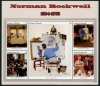 ANTIGUA - Norman Rockwell Paintings Sheetlet I of 5 Different (1)
