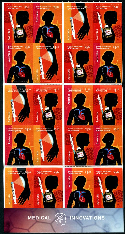 AUSTRALIA - Medical Innovations Self-Adhesive Booklet of 20 (3 Different) (1)