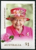 AUSTRALIA - Scott NEW ISSUES Queen Elizabeth II 2018 - Rose $1.00 Self-Adhesive (1)  Another stamp from Herrick Stamp Company