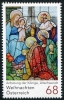 AUSTRIA - Scott NEW ISSUE Christmas 2017 Nativity (1)  Another stamp from Herrick Stamp Company