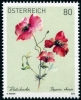 AUSTRIA - Scott NEW ISSUE Poppy Flower (1)  Another stamp from Herrick Stamp Company
