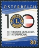 AUSTRIA - Scott NEW ISSUE 100 Years Lions Club (1)  Another stamp from Herrick Stamp Company