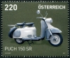 AUSTRIA - Scott NEW ISSUE Antique Motorcycle 2017 - Puch 150 SR (1)  Another stamp from Herrick Stamp Company