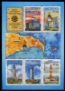 AZERBAIJAN - Scott NEW ISSUE Lighthouses Sheetlet of 5 Different with Center Label (Map) (1)