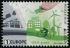 BELGIUM - Scott NEW ISSUE EUROPA 2016 Think Green (1)  Another stamp from Herrick Stamp Company