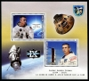 BENIN - Scott NEW ISSUE Space-Andrew Cernan Sheetlet of 2 Different (P/3 @ Face) (1)  Another stamp from Herrick Stamp Company