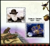 BENIN - Scott NEW ISSUE Charles Darwin Sheetlet of 2 Diff. (P/3 @ Face) (1)  Another stamp from Herrick Stamp Company