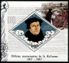 BENIN - Scott NEW ISSUE 500th Anniv. of Reformation Souvenir Sheet - Martin Luther (P/3 @ Face) (1)  Another stamp from Herrick Stamp Company