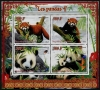 BENIN - Scott NEW ISSUE Pandas Sheetlet of 4 Different (P/3 @ Face) (1)  Another stamp from Herrick Stamp Company