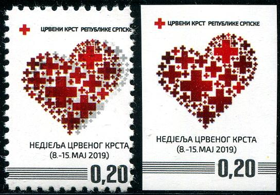 BOSNIA & HERZEGOVINA - SERBIA ADMIN-Red Cross 2019 Perf & Imperf (2)