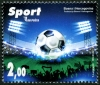 BOSNIA & HERZEGOVINA - Scott NEW ISSUE Sports 2018, Soccer (1)  Another stamp from Herrick Stamp Company