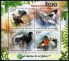 BURUNDI - Scott NEW ISSUE Birds & Air Pollution Sheetlet of 4 Different (P/3 @ Face) (1)