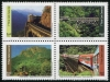 BRAZIL - Scott NEW ISSUE Trains Block of 4 Different (1)  Another stamp from Herrick Stamp Company