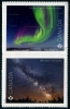 CANADA - Scott NEW ISSUES Astronomy Self-Adhesive Pair (P/3 @ Face) (1)  Another stamp from Herrick Stamp Company