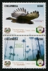 COLOMBIA - Scott NEW ISSUE Quindio Department Setenant Pair (Bird, Horse) (1)  Another stamp from Herrick Stamp Company