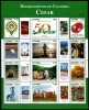 COLOMBIA - Cesar Department Sheetlet of 12 Different (1)