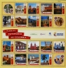 COLOMBIA - Scott NEW ISSUE Tourism - Peoples Heritage Sheetlet of 17 Different (1)  Another stamp from Herrick Stamp Company