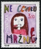 CROATIA - Scott NEW ISSUE Say No to Hate Speech - Childs Drawing (1)  Another stamp from Herrick Stamp Company