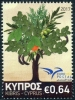 CYPRUS - Scott NEW ISSUE Euromed 2017 Trees (1)  Another stamp from Herrick Stamp Company
