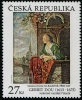 CZECH REPUBLIC - Scott NEW ISSUE Gerrit Dou Painting Joint with Liechtenstein (1)  Another stamp from Herrick Stamp Company