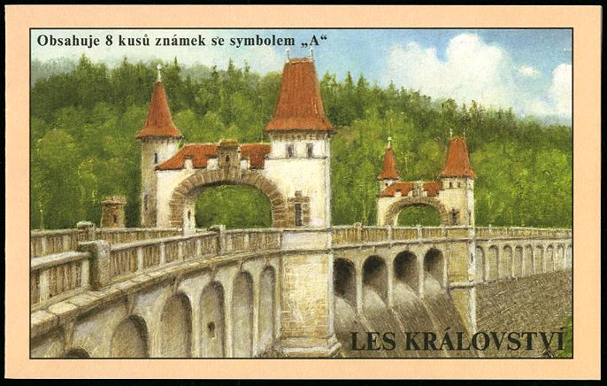CZECH REPUBLIC - Les Kralovstvi Dam Booklet of 8 with Labels (1)