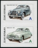 CZECH REPUBLIC - Scott NEW ISSUE Antique Automobiles 2015 Self-Adh. Setenant Pair (1)  Another stamp from Herrick Stamp Company