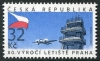 CZECH REPUBLIC - Scott NEW ISSUE Prague Airport 80 Years  (1)  Another stamp from Herrick Stamp Company