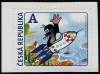 CZECH REPUBLIC - Scott NEW ISSUE Cartoon Mole in Rocket Self-Adhesive (1)  Another stamp from Herrick Stamp Company