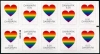 DENMARK - Scott NEW ISSUE Pride Self-Adhesive Booklet of 10 (2 Different) (P/3 @ Face) (1)  Another stamp from Herrick Stamp Company