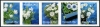DENMARK - Flowers 2017 Strip of 5 Different (P/3 @ Face) (1)