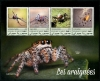 DJIBOUTI - Scott NEW ISSUE Spiders Sheetlet of 4 Diff. (P/3 @ Face) (1)  Another stamp from Herrick Stamp Company