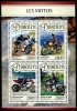 DJIBOUTI - Scott NEW ISSUE Motorcycles Sheetlet of 4 Different (P/3 @ Face) (1)  Another stamp from Herrick Stamp Company