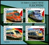 DJIBOUTI - Scott NEW ISSUE European Speed Trains Sheetlet of 4 Different (P/3 @ Face) (1)  Another stamp from Herrick Stamp Company