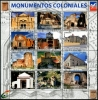 DOMINICAN REPUBLIC - Scott NEW ISSUE Colonial Monuments Sheetlet of 8 Diff. with Labels (1)  Another stamp from Herrick Stamp Company