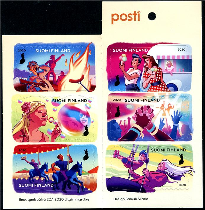 FINLAND - Valentines Day 2020 Colors of Friendship Self-Adhesive Booklet of 6 Different (P/3 @ Face) (1)