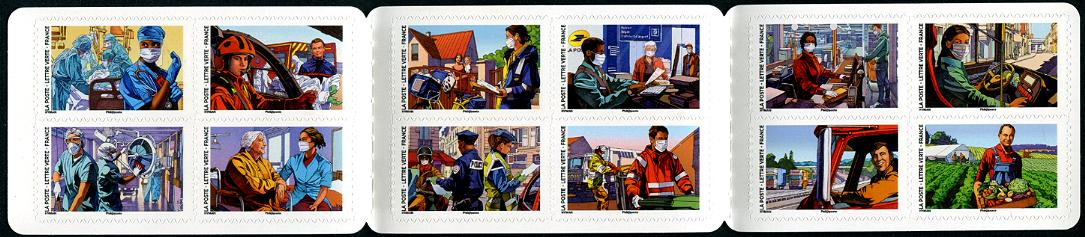 FRANCE - COVID-19 Front Line Heroes Self-Adhesive Booklet of 12 new stamps (1)