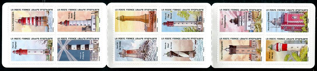 FRANCE - Lighthouses 2020 Self-Adhesive Booklet of 12 new stamps (1)