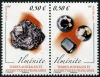 FRENCH ANTARCTIC - Scott NEW ISSUE Ilmenite Mineral Setenant Pair (1)  Another stamp from Herrick Stamp Company