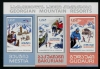 GEORGIA - Scott NEW ISSUE Mountain Resorts Sheetlet of 3 Different (1)  Another stamp from Herrick Stamp Company