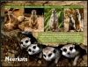 GAMBIA - Scott NEW ISSUE Meerkats Sheetlet of 4 Different (1)  Another stamp from Herrick Stamp Company
