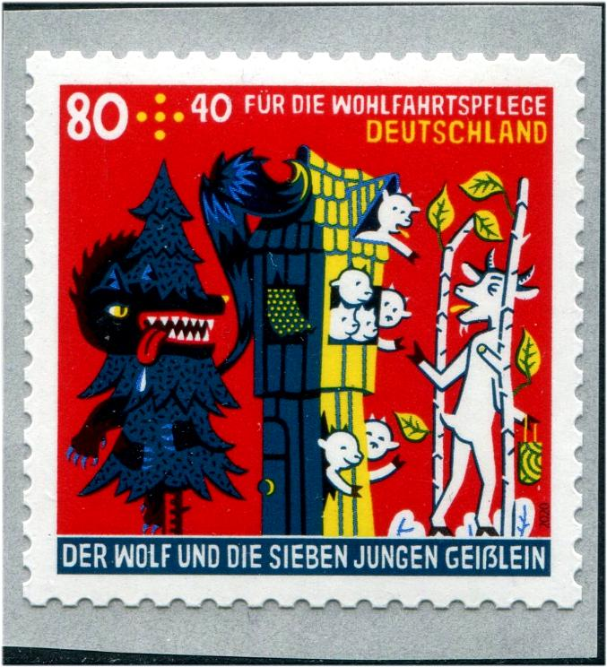 GERMANY - Welfare 2020 Grimms Fairy Tales Self-Adhesive Coil (S.P.) (1)