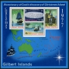 GILBERT ISLANDS - Scott 303a Captain Cooks Discovery of Christmas Island Wholesale Lot of 69 Souvenir Sheets. Scott Retail $621.00  Another stamp from Herrick Stamp Company