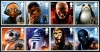 GREAT BRITAIN - Star Wars 2017 Characters Strips of 4 Different (P/3 @ Face) (2)